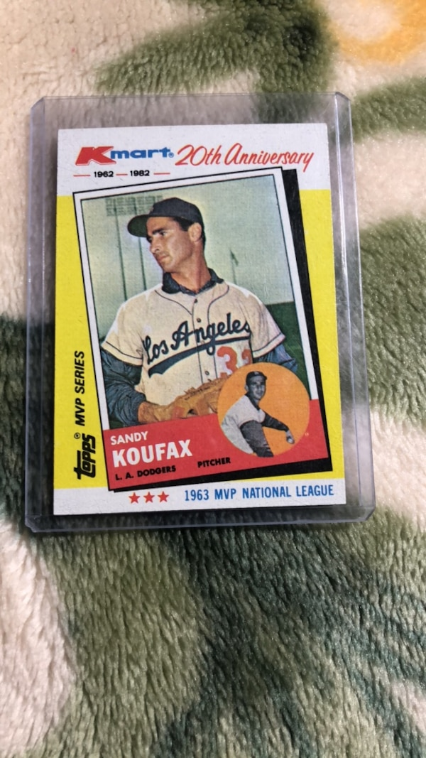 Sandy Koufax Kmart 20th Anniversary Baseball Card
