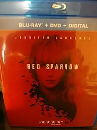 Red sparrow blu-ray +dvd +digital Hagerstown, 21742