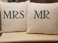 Mr and Mrs decorative pillows  Whitby, L1N 8X2