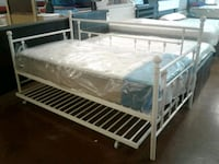 White Metal Day Bed Frame Only with Trundle  Phoenix, 85018