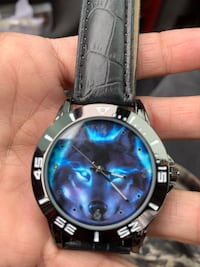 Colorful wolf watch