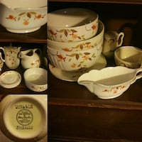 white and orange floral ceramic plate lot Shelbyville, 37160