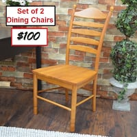 AJ- BRAND NEW- Biermann Solid Wood Dining Chair with Ladder Back (Set of 2) Mississauga