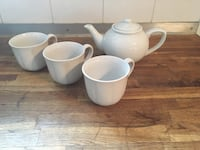 Mugs and tea pot