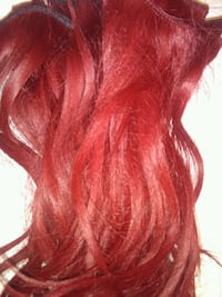 RED REAL HUMAN HAIR
