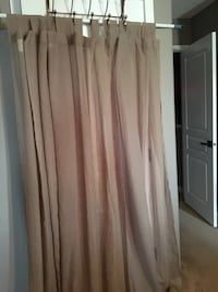 """4 tab top taupe curtain panels 50"""" x 84"""" Spruce Grove, T7X 4P6"""