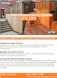Fence & Deck Restoration/Protection Shelburne