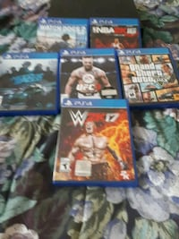 four assorted PS4 game cases Toronto, M9M