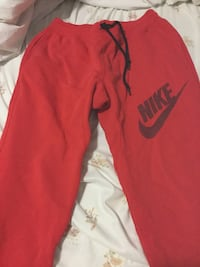 red Nike sweatpants