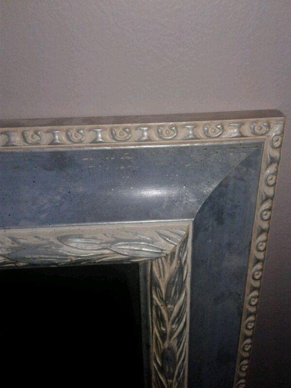 Mirror with Blue Silver frame 48145631-6f82-4671-8903-b926d8628089