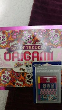 Day of the dead Origami book & erasers Guelph, N1E 3Y4
