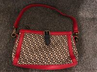 women's brown and red leather handbag Richmond, V6Y 1X8