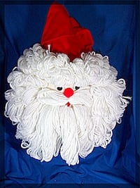 "18"" H x 12"" W   VERY CUTE Santa Head Door/Wall Hanging * IF AD'S UP, IT'S STILL AVAILABLE Hamilton"