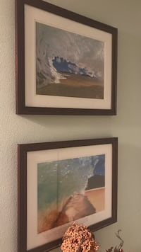 two waves illustrations with brown wooden frame Camas, 98607