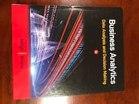 Book - Business Analytics: Data Analysis & Decision Making - BRAND NEW Arlington