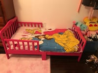 Pink toddler bed available with mattress Toronto, M9W 6L4