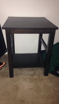 square black wooden side table Tampa, 33618