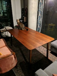 Structube Thao walnut dining Table