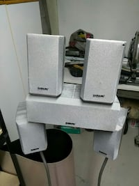 Sony 5 channel speakers, w two stands Brantford, N3R 7A7