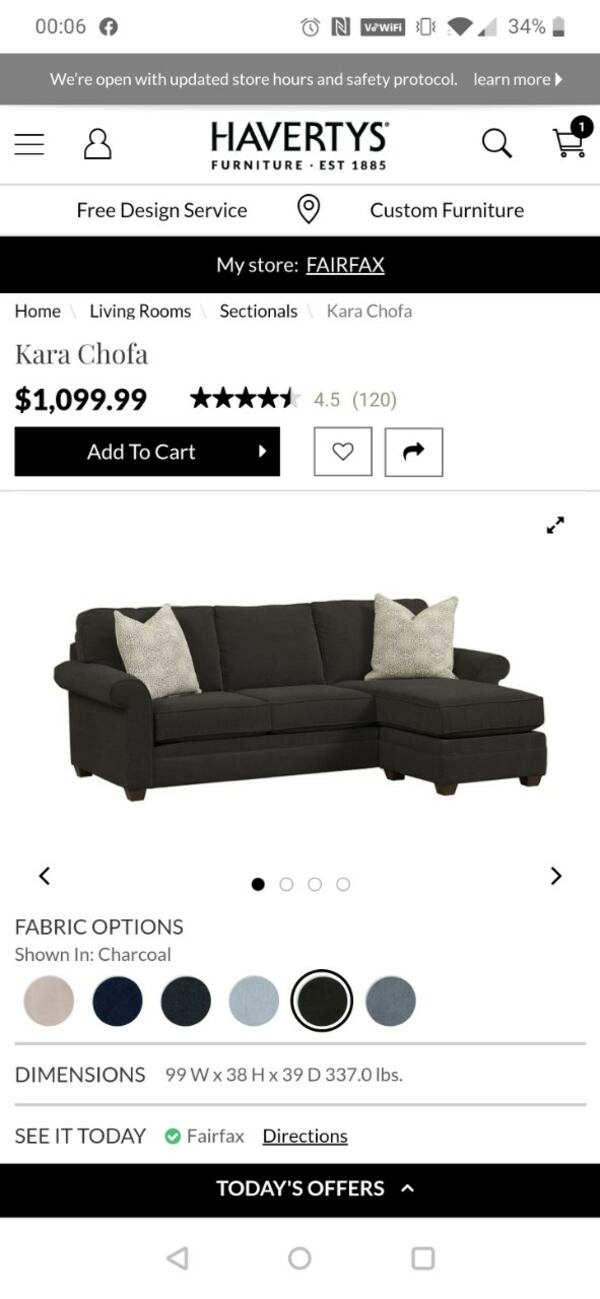 Havertys Sofa for reduced price 3