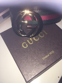Black gucci leather belt with box Springfield, 01118