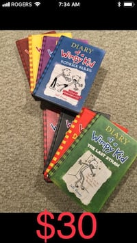 Eight diary of a wimpy kid books Grimsby, L3M 1L1