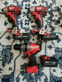 red and black Milwaukee cordless power drill Temple, 76504