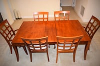 rectangular brown wooden table with six chairs dining set Gaithersburg, 20877
