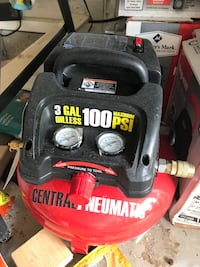 red and black Central Pneumatic air compressor Grovetown, 30813