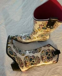 pair of multicolored knee-high boots Plano, 75023