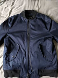 Mens Banana Republic Navy Blue Bomber Jacket