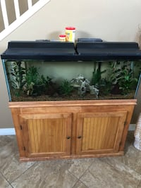 55 gal tank with stand, lids and lights Anthem, 85086