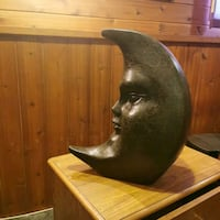 Moon face decor, Cast piece , heavy and needs a new home . Calgary, T1Y 4H8