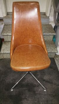 brown wooden frame brown padded chair Vaughan