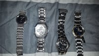 four silver men watches for all Davie