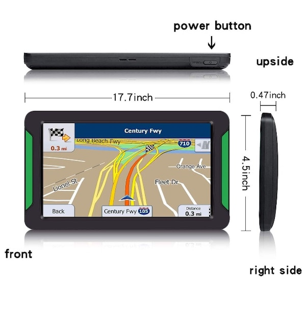 GPS Navigation for Car, 7 Inch 8GB HD Touch Screen Car GPS Navigation 4