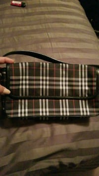 black and white plaid leather crossbody bag Vaughan, L6A 4H6