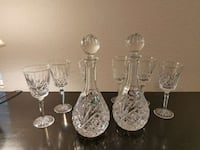 2 Shannon crystal wine carafes with 6 glasses Graham, 98338