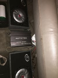 12 inch kicker subs and a 1500 autotek amp