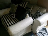 CUSTOM MADE PAINTED WHITE & BLACK SOFA & LOVESEAT  Forest Hill, 21050