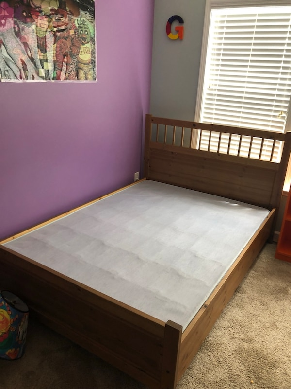 Used Full Bed Frame With Box Springs For Sale In Raleigh