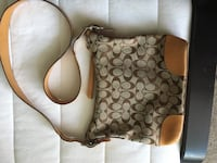 brown and white Coach monogram hobo bag Kitchener, N2E 3J8