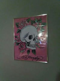 white and pink Ed Hardy photo framed Houma, 70364