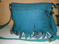 blue and black striped leather handbag 2052 mi