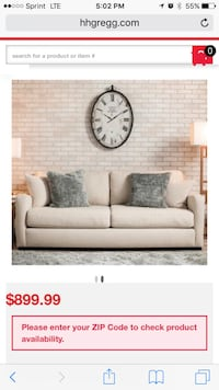 Beige love seat micro-suede couch with two gray throw pillows Chicago, 60630