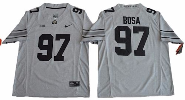 new concept 08d07 bc7df Joey Bosa Grey Ohio State Jersey