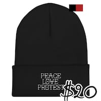 Peace Love Protest Beanie Fayetteville