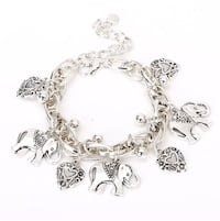 NEW fashionable Elephants and Hearts anklet bracelet