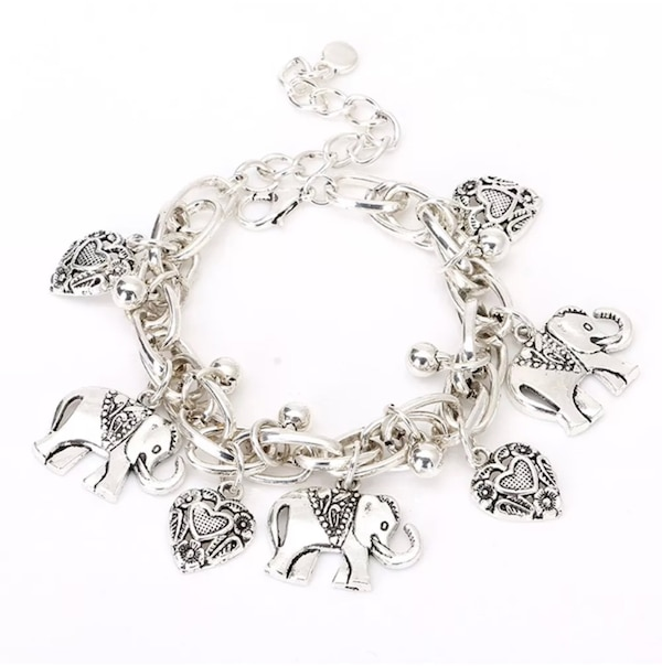 NEW fashionable Elephants and Hearts anklet bracelet 799db4d5-6b47-4786-a224-98915a4cb371