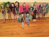 Monster high dolls (11 for 45) Toronto, M1N 1R5